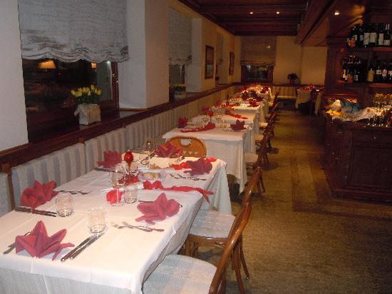 sala ristorante hotel Compagnoni Livigno