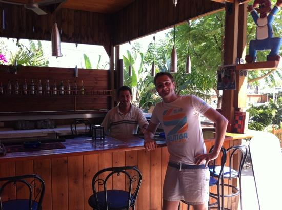 Mon Repos Villa - Hotel: At the bar with Vamgelis