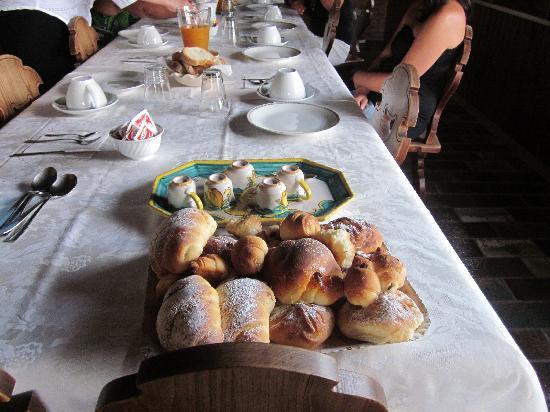 Villa Federica : la colazione