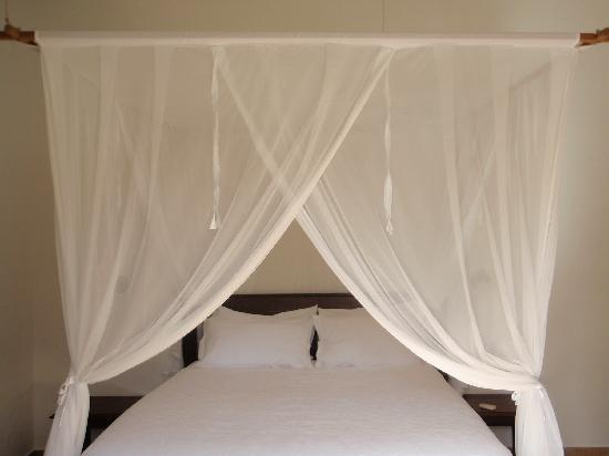 Duqueza de Connaught Guesthouse : Queen size bed with mosquito net