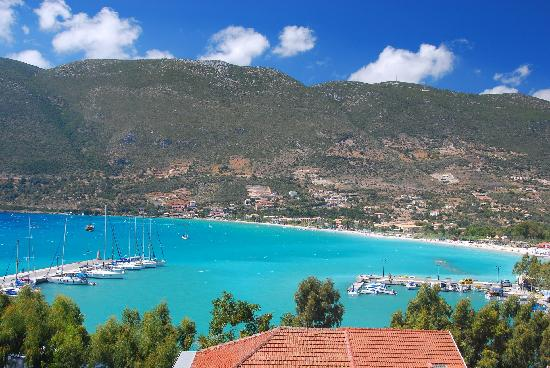 Vasiliki Blue : view from the balcony