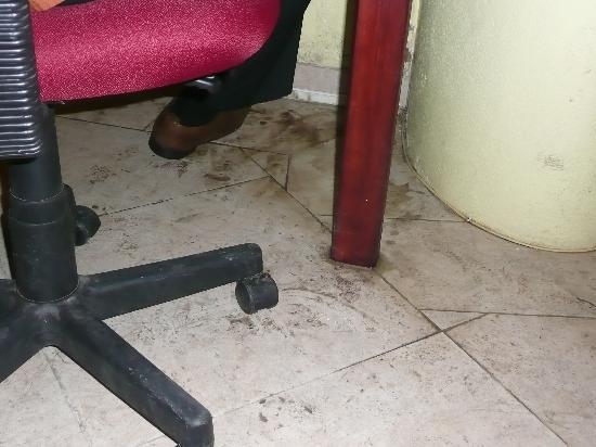 Coconut Bay Beach Resort & Spa : Stains on Computer Room floor