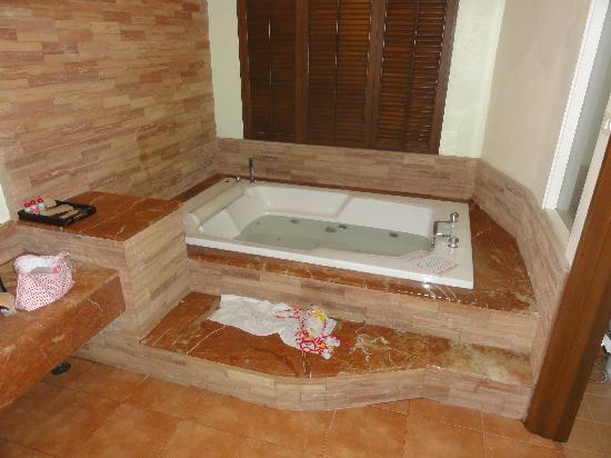 Siam Society Hotel & Resort Bangkok : Our jacuzzi with comedy english translated instructions!