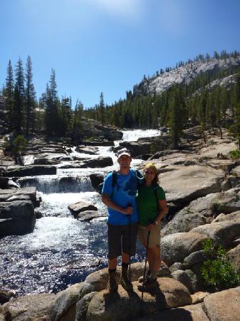 Tuolumne Meadows: start of the falls