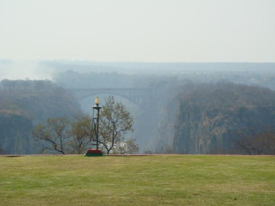 The Victoria Falls Hotel: view from back lawn