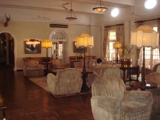 The Victoria Falls Hotel: common area