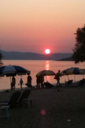 Agios Prokopios Beach: sunset
