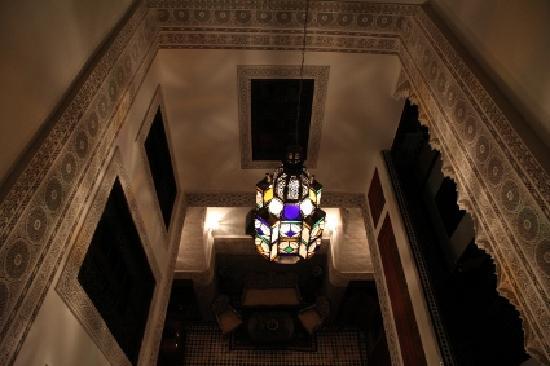 Riad Dar Guennoun: Blick von oben ins Atrium