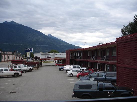 Revelstoke Lodge: View from my room.