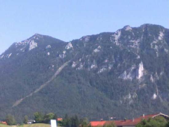 Alpenhotel Bayerischer Hof: Aussicht vom Balkon unseres Apartements