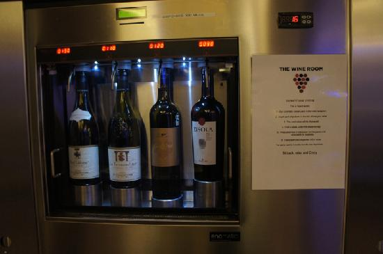First Hotel Twentyseven: wine dispenser anytime