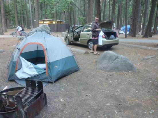 Upper Pines Campground: our home for two days upper pine site 169