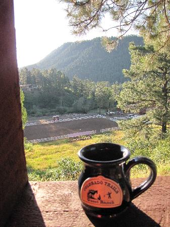 ‪‪Colorado Trails Ranch‬: Morning Coffee‬