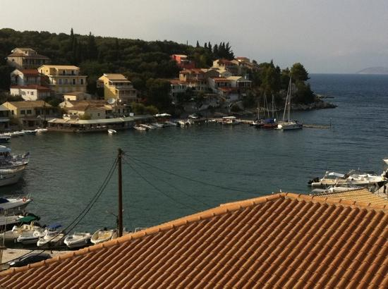 Kassiopi: view of harbor from Dimas apartments