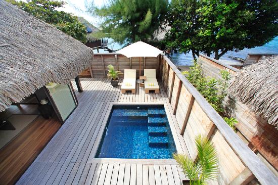 Hilton Moorea Lagoon Resort & Spa: Deluxe Garden Pool Bungalows
