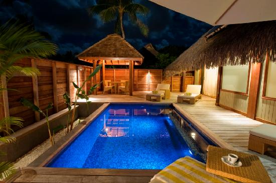‪منتجع Hilton Moorea Lagoon Resort & Spa: Garden Pool Suite, Pool‬