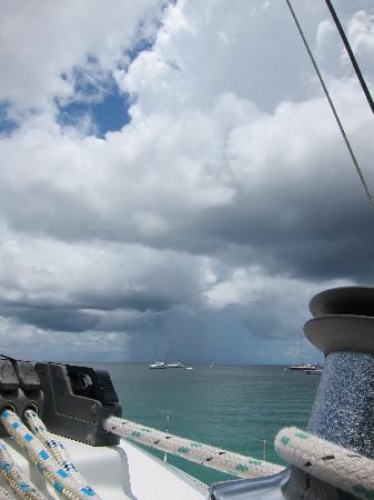 Elegance Catamaran Cruises: Storm brewing off the starbord side