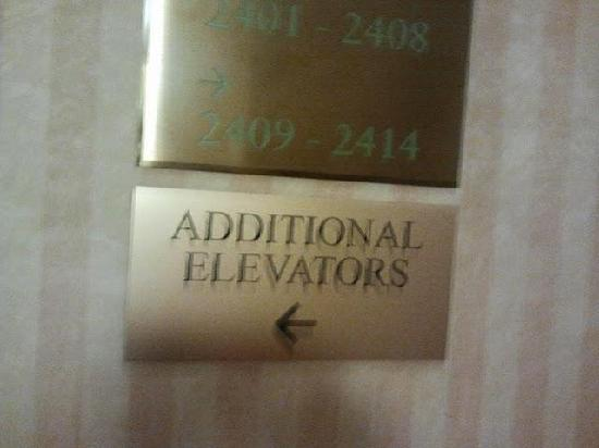 The Manhattan Club: Manhattan Club Additional elevators sign