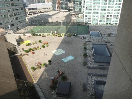 Terrace off of third floor pool area picture of the for 1 harbour square 38th floor toronto on m5j 1a6