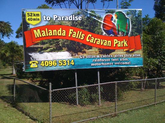 Malanda Falls Caravan Park: lovely spot