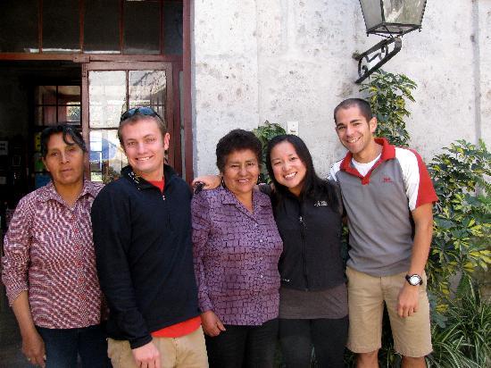 Samana Wasi: us and our beloved mrs barbara!