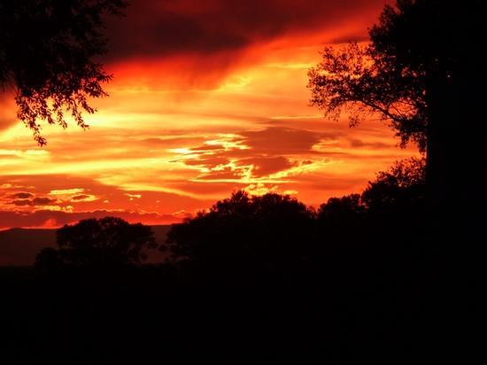 Zapata Ranch - A Nature Conservancy Preserve: Sunset at Zapata
