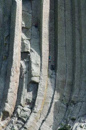 Devils Tower National Monument: Climbers on the tower