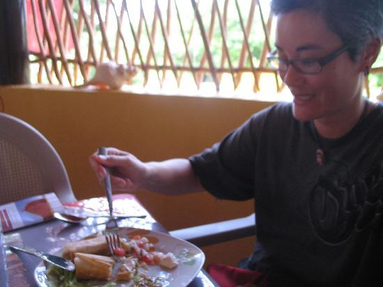 The Pickled Onion B&B & Restaurant Uxmal: What's left of our Chimichanga