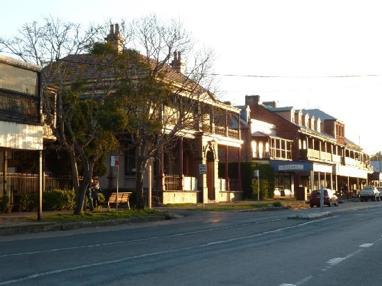 The Bronte Boutique Hotel: main street at sunset