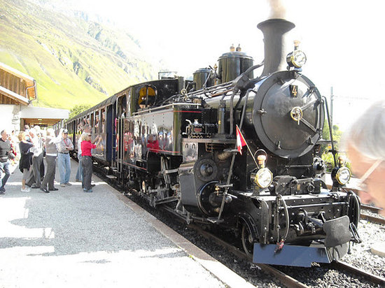 Canton of Valais, Switzerland: Furka steam train