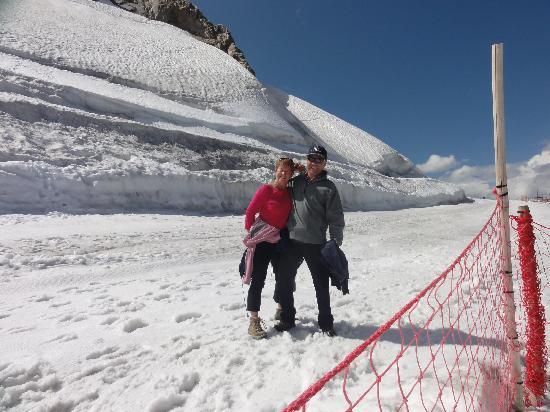 La Mercerie : sur le glacier de la Grande Motte