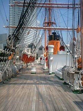 Yokohama Port Museum: 帆船・日本丸のマスト