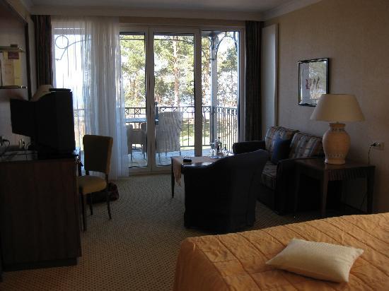 Grand Hotel Binz : Blick zum Balkon