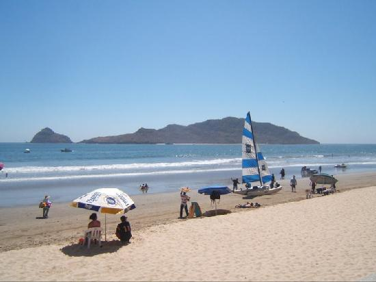 Beach in front of hotel playa Mazatlan