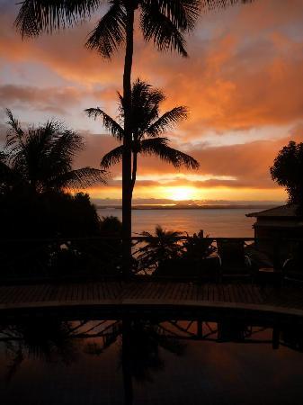Hotel Pousada Natureza: Sonnenuntergang vom Pool
