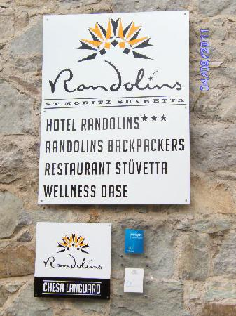 Berghotel Randolins: Another sign of Randolins