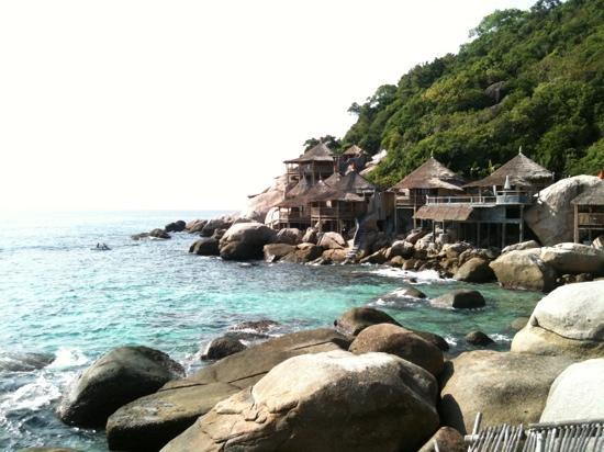 Koh Tao Bamboo Huts: บ้านไม้ไผ่ริมทะเล