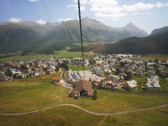 Alte Brauerei Hotel-Restaurant: Celerina from the cable car
