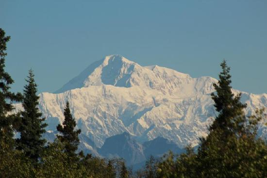 Talkeetna Chalet: View from porch, zoomed in a bit