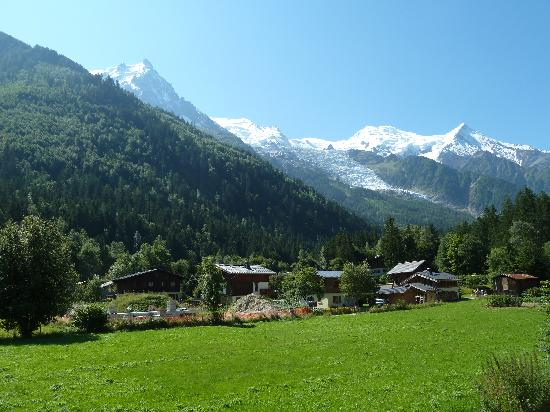 Chalet Blanche: View of glacier and Mont Blanc from Chalet