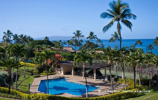 One of four swimming pools at Wailea Ekahi Village along with paddle tennis court