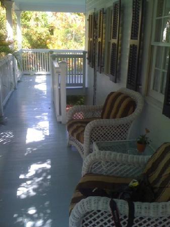 The Gardens Hotel: upper porch