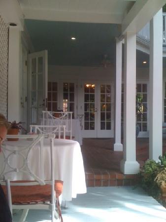 The Gardens Hotel: breakfast porch