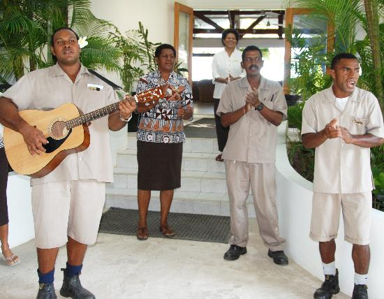 Lomani Island Resort: The staff greets you with a song ... and sings you out the door at the end