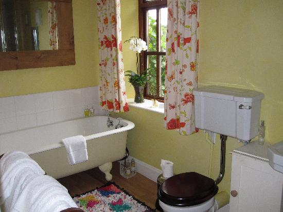 Candlewyck Barn Bed and Breakfast: One of the private bathrooms in the house...the power shower is commented on by all guests along