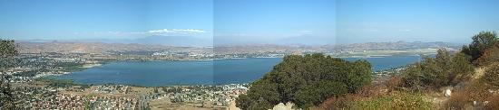 Lake Elsinore panorama from Ortega Highway 74