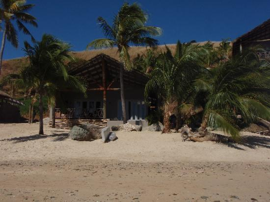 Tadrai Island Resort : View of Villa from Beach