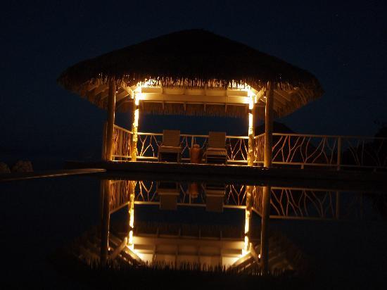 Tadrai Island Resort : Main Pool at Night..