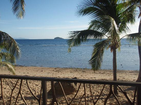 Tadrai Island Resort : View from Villa onto Beach