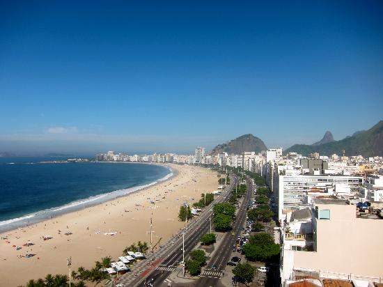 PortoBay Rio Internacional Hotel: View from the hotel, looking toward Ipanema and Leblon.